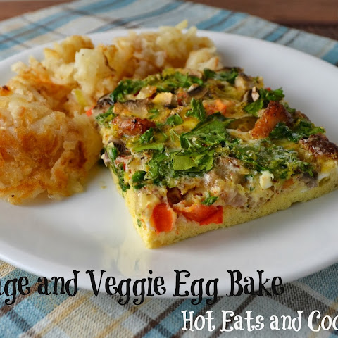 Sausage and Veggie Egg Bake