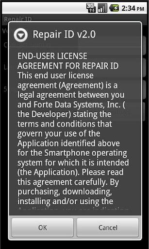 Repair ID
