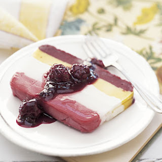 Sorbet and Ice Cream Terrine with Blackberry Compote