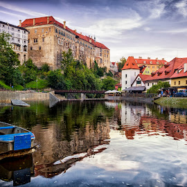 Krumlov Castle by Petr Kubat - City,  Street & Park  Historic Districts ( water, cesky, cityx, krumlov, south, castle, chateau, river, bohemia )