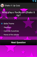 Screenshot of Shake It Up Quiz
