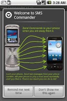 Screenshot of SMS Commander