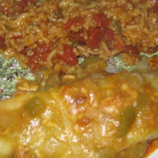 Chicken Enchiladas with green sauce