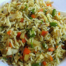 Singapore Vegetable Fried Rice