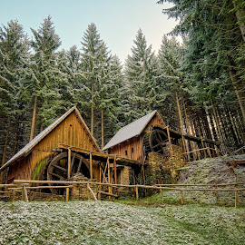 Old gold mine... by Marek Koteluk - Buildings & Architecture Public & Historical ( gold mine, old, winter, hdr, zlate hory )