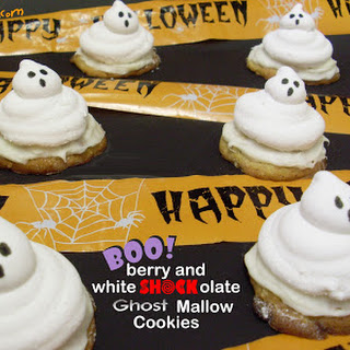 Booberry and White Shockolate Ghost Mallow Cookies