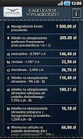 Screenshot of Kalkulator wynagrodzeń