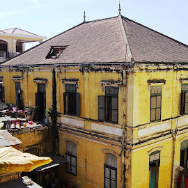 French Colonial Building by Ilse Gibson - Buildings & Architecture Office Buildings & Hotels ( colonial architecture, french colonial, phnom penh, old building, cambodia,  )