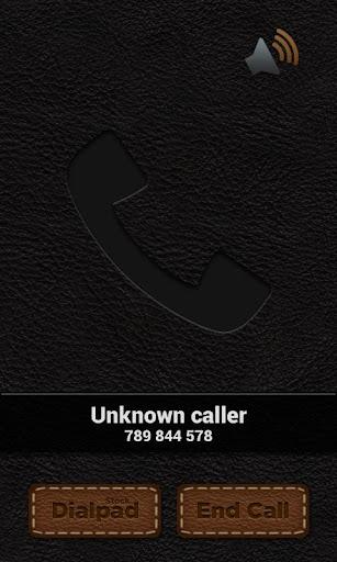 Leather Theme - BIG caller ID