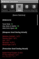 Screenshot of iMobsters Calculator