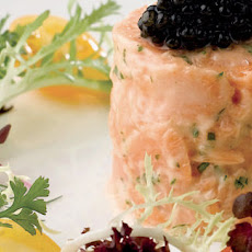 Scottish Salmon Rillette With Caviar