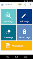Screenshot of NFC TagWriter by NXP