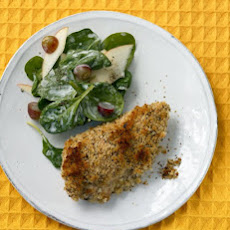 Buttermilk Baked Chicken with Spinach Salad