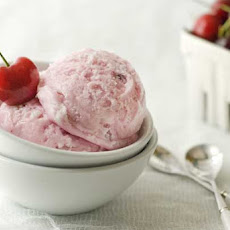 Gluten Free Cherry Almond Ricotta Ice Cream
