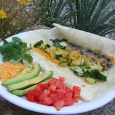 Green Chile Calabasitas Burritos