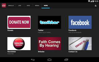 Screenshot of Faith Comes by Hearing