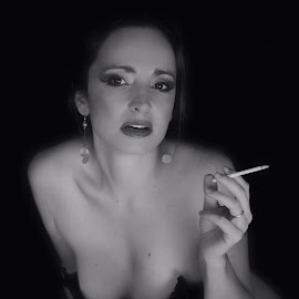 by Amy Nash - Nudes & Boudoir Boudoir ( person, b&w, woman, portrait )