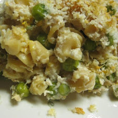 Crispy-On-The-Top Tuna and Green Pea Casserole (Rocco Dispirito)