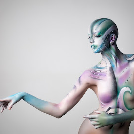 Saterion in Bloom by Paul Baybut - Nudes & Boudoir Artistic Nude ( pose, nude, female, naked, artistic nude, bald, alien, bodypaint, body painted )
