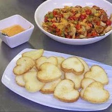 Linda's Lemon Shrimp and Sausage With Grit Cakes