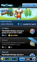 Screenshot of Bubble Monkey
