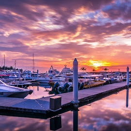 A Rich Man's View by Eric Tai - Transportation Other ( waterscape, sunset, yacht, long exposure, longexposure )