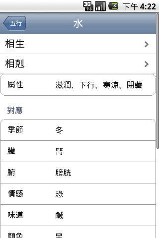【免費書籍App】五行生剋表 Wu Xing Table-APP點子