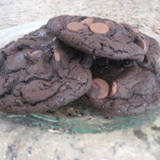 Triple Chocolate Cake Mix Cookies