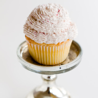 Parmesan Sour Cream Cupcakes with Raspberry Whipped Cream Frosting