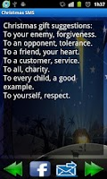 Screenshot of Christmas messages (SMS)