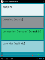 Screenshot of Výuka angličtiny, Slovíčka 2/2