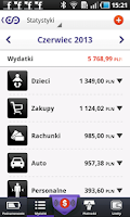 Screenshot of MoneyZoom Wydatki pod kontrolą