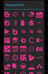 Download Stamped Pink Icons APK to PC