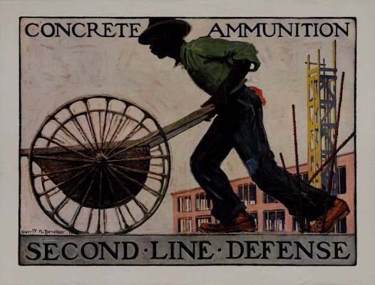 "This poster exhorts men on the home front, both black and white workers, to equate their labor with the exertions of men on the battlefield, and to recognize that they are just as important to the success of the war. View this print on the <a href=""http://www.gilderlehrman.org/collections/b87b82fe-8137-457a-9d77-303859312814"">Gilder Lehrman website</a>."