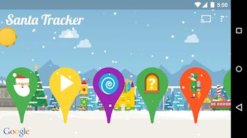 Screenshot of Google Santa Tracker