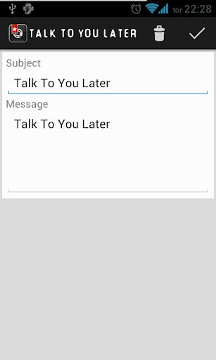 【免費通訊App】Talk To You Later-APP點子