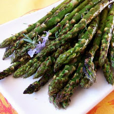 Asparagus Grilled With Garlic, Rosemary,  and Lemon