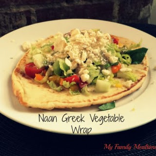 Naan Greek Vegetable Wrap