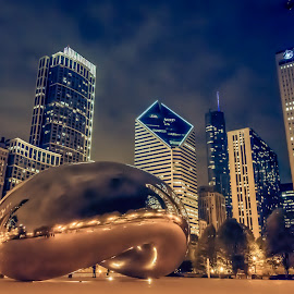 The Bean of Chicago by KIRAZ DOWNEY - City,  Street & Park  Skylines ( urban, windycity, downtownchicago, millenium park, chitown, lifestyle, thebeanofchicago, cityscape, chicago, usa, cloudgate, city )