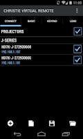 Screenshot of Christie Virtual Remote
