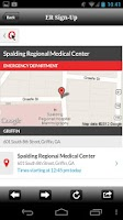 Screenshot of Spalding Regional Medical