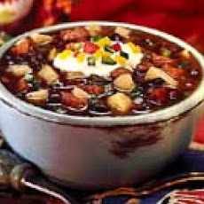 Black Bean Soup with Cumin and Jalapeño