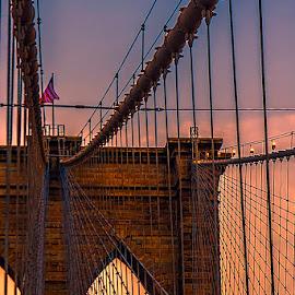 Brooklyn Bridge by Jim Cunningham - Buildings & Architecture Architectural Detail ( brooklyn bridge, new york city, new york, nyc, brooklyn )