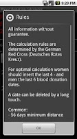 Screenshot of Blood donation calculator