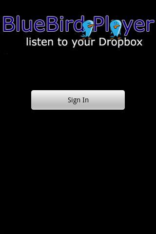 BlueBird Player for Dropbox