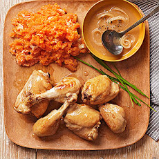 Philippine Chicken Adobo with Smashed Sweet Potatoes