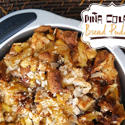 Piña Colada Bread Pudding
