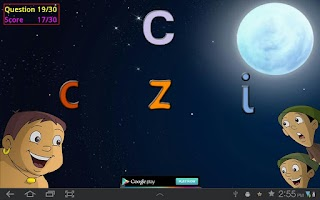 Screenshot of Play with Alphabets and Bheem
