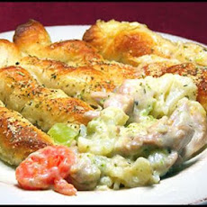 Breadstick Topped Chicken Pie