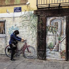 Graffiti by Carmen Piqueras - City,  Street & Park  Street Scenes